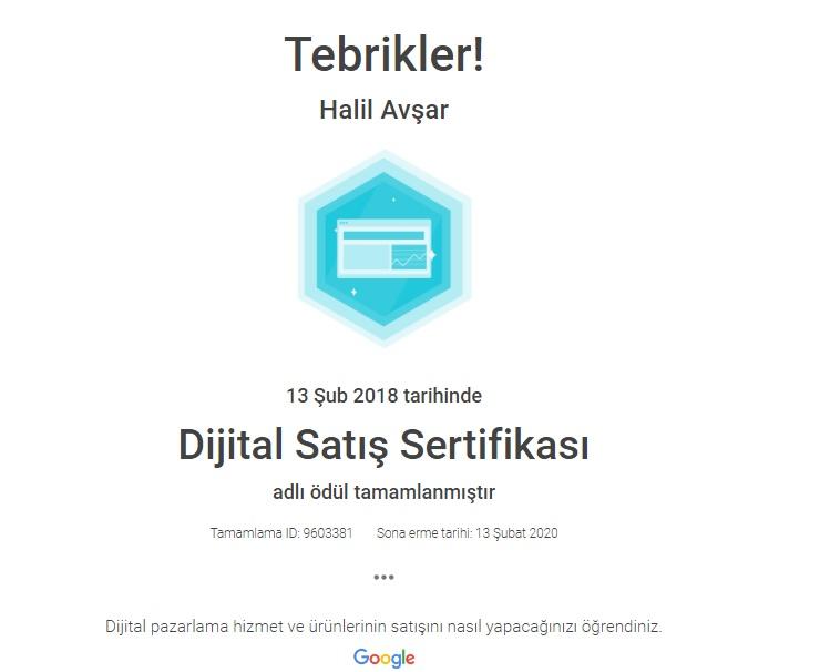 Google Adwords Dijital Satış Sertifikası